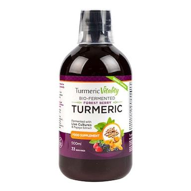 Turmeric Vitality Bio-Fermented Turmeric Liquid Forest Berry Flavour 500ml
