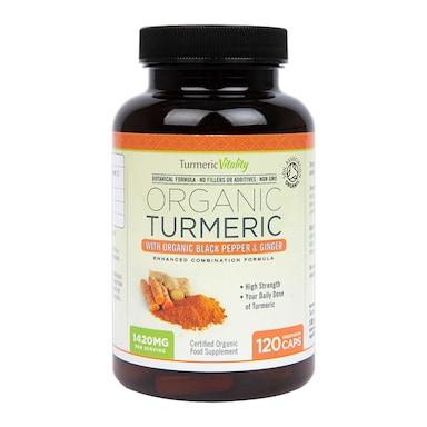 Turmeric Vitality Organic Turmeric with Organic Black Pepper & Ginger 120 Capsules