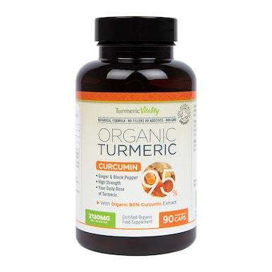 Turmeric Vitality Organic Turmeric Curcumin95 90 Capsules
