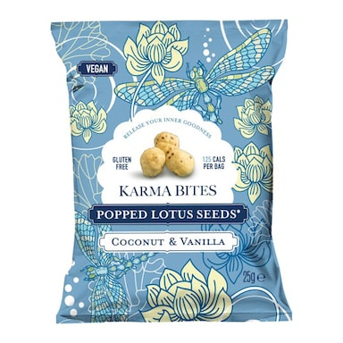 Karma Bites Popped Lotus Seeds Coconut & Vanilla 25g