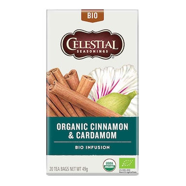 Celestial Organic Cinnamon & Cardamom Tea 20 Bags