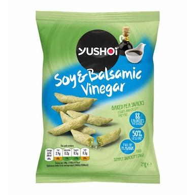 Yushoi Soy & Balsamic Vinegar Baked Pea Snack 21g