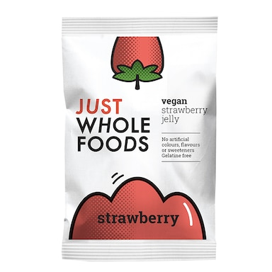 Just Wholefoods Vegan Jelly Crystals Strawberry 85g