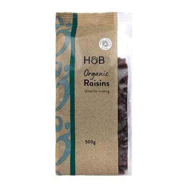 Holland & Barrett Organic Raisins 500g