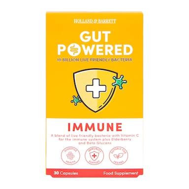 Holland & Barrett Gut Powered Immune Support 30 Capsules