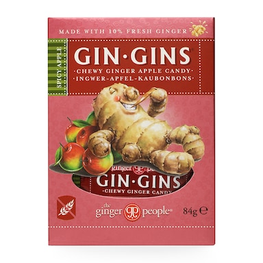 The Ginger People Gin Gins Spicy Apple Ginger Chews 84g