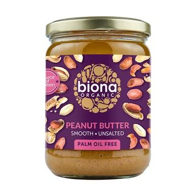 Biona Peanut Butter - Smooth No Added Salt 500g