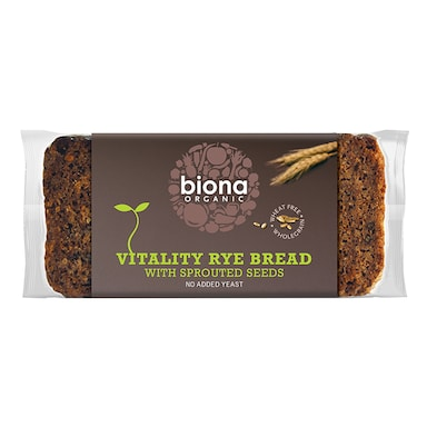 Biona Vitality Rye Bread With Sprouted Seeds 500g