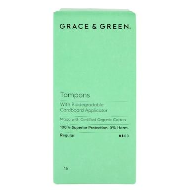 Grace & Green Applicator Tampons  - Regular 16 pack