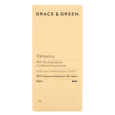 Grace & Green Applicator Tampons - Super 14 pack