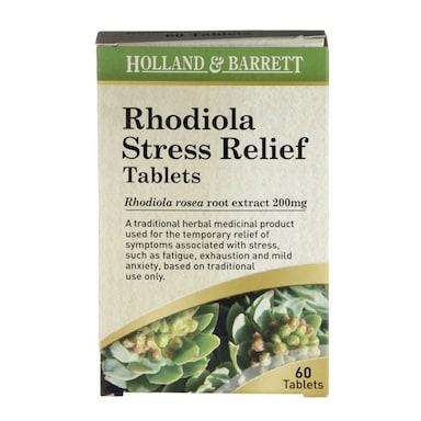 Holland & Barrett Rhodiola Stress Relief 60 Tablets 200mg