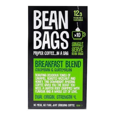 Raw Bean Breakfast Blend Bags 10x