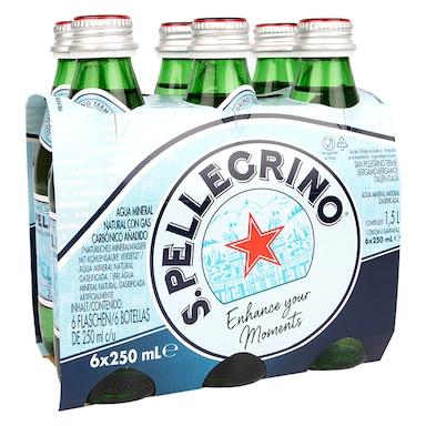San Pellegrino Sparkling Natural Mineral Water 6x250ml