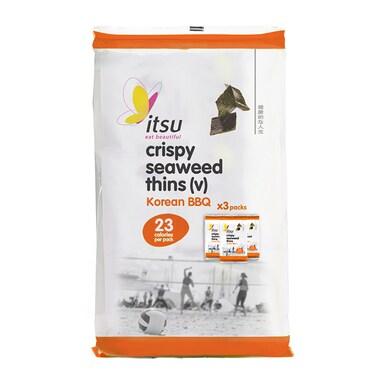 Itsu Crispy Seaweed Thins - Barbecue Multipack (5gx3)