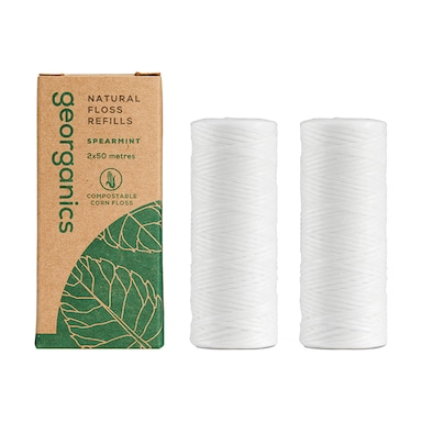 Georganics Natural Floss Refill - Silk Spearmint