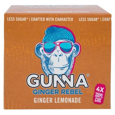 Gunna Original Rebel Ginger Lemonade 4 x 330ml