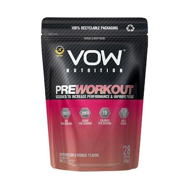 Vow Nutrition Pre Workout Watermelon & Mango 500g