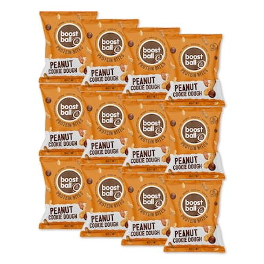 Boostball Protein Bites Peanut Cookie 12 x 45g