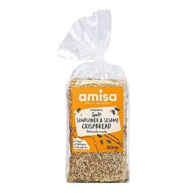 Amisa Spelt Sunflower & Sesame Crispbread 200g