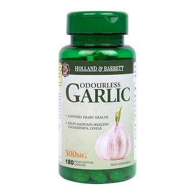 Holland & Barrett Odourless Garlic Vegan 500mg 180 Capsules