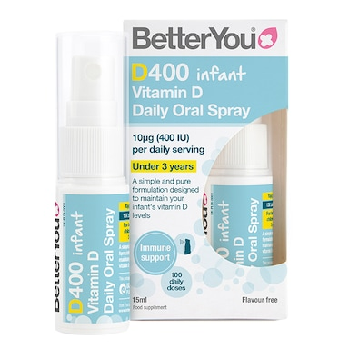 BetterYou D400 Infant Vitamin D Daily Oral Spray 15ml