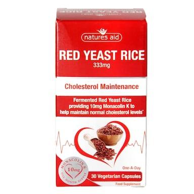 Natures Aid Red Yeast Rice 30 Capsules