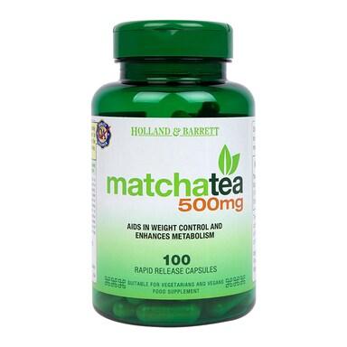 Holland & Barrett Matcha Tea 500mg 100 Capsules
