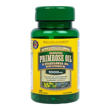 Holland & Barrett Evening Primrose & Starflower Oil 1000mg 30 Capsules