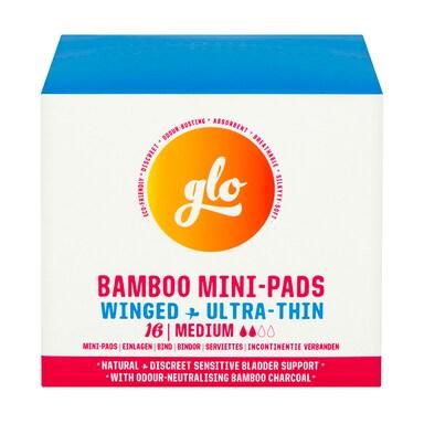 glo Bamboo Mini-Pads for Sensitive Bladder 16 pack
