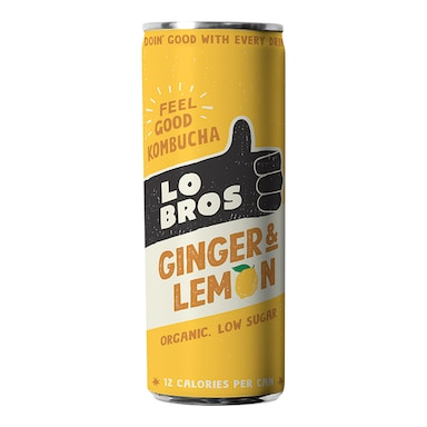 Lo Bros Lemon & Ginger Kombucha 250ml