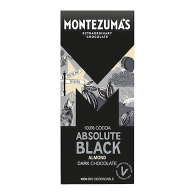 Montezuma's 100% Cocoa Absolute Black Almonds Bar 90g