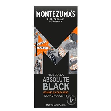 Montezuma's 100% Cocoa Absolute Black Orange & Cocoa Nibs 90g