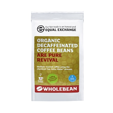 Equal Exchange Decaffeinated Coffee Beans Swiss Water 227g