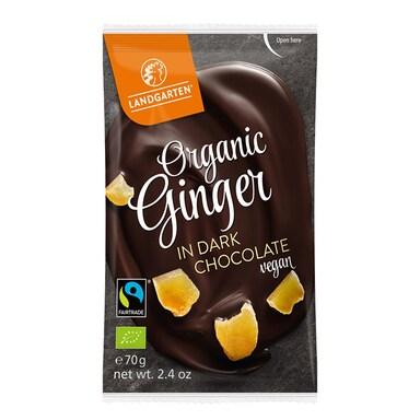Landgarten Ginger In Dark Chocolate Vegan 70g