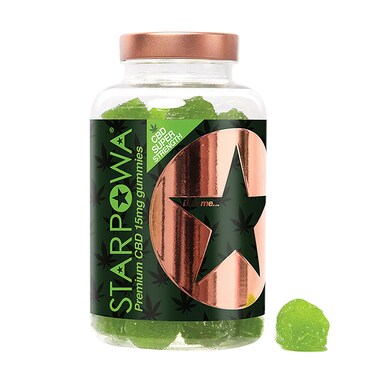Starpowa CBD 15mg Apple Flavoured 60 Gummies