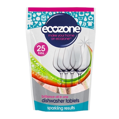 Ecozone Dishwasher Tablets - Brilliance All In One 25s