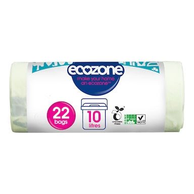 Ecozone Compostable 10Ltr Caddy Liners 22 Bags