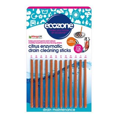 Ecozone Citrus Enzymatic Drain Cleaning Stick Single