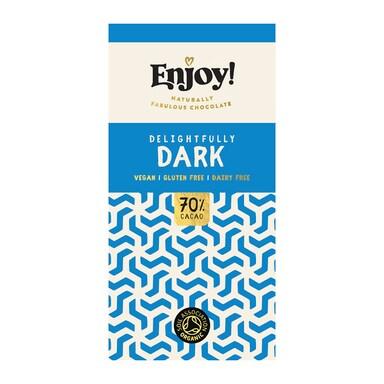 Enjoy Raw Choc Dark 70% Chocolate Bar 70g