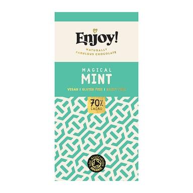 Enjoy Raw Choc Mint Chocolate Bar 70g