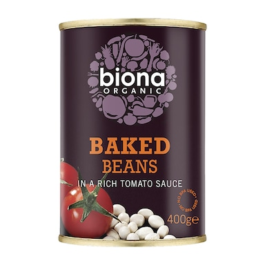 Biona Baked Beans In Tomato Sauce - Can 400g
