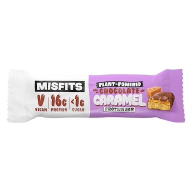 Misfits Chocolate Caramel Vegan Protein Bar 45g