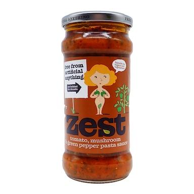 Zest Tomato Mushroom & Green Pepper Pasta Sauce 340g