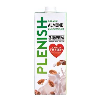 Plenish Organic Unsweetened 7% Almond M*lk 1Ltr