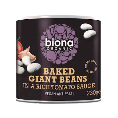 Biona Baked Giant Beans In Tomato Sauce - Organic 230g