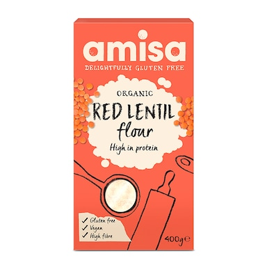 Amisa Gluten Free & Organic Red Lentil Flour 400g
