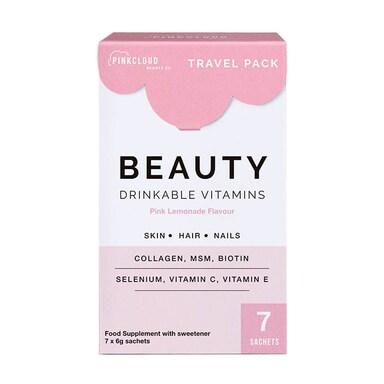 Pink Cloud Beauty Drinkable Vitamins Pink Lemonade Flavour 7 Sachets