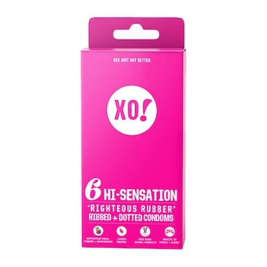 XO! Hi-Sensation Condoms - 6 Pack