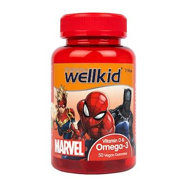 Vitabiotics Wellkid Marvel Vit D Omega 7-14 years 50 Vegan Soft Jellies