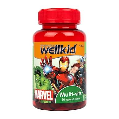 Vitabiotics Wellkid Marvel Multi-Vitamin 7-14 years 50 Vegan Soft Jellies